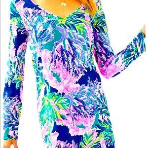 Lovely Lilly Pulitzer Beacon Dress Multi Fan XL